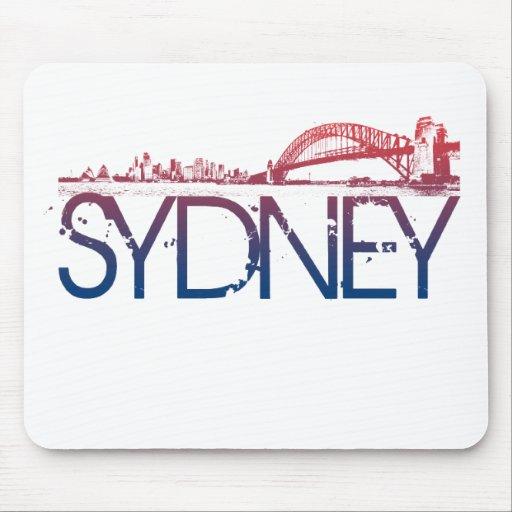 Sydney Skyline Design Mouse Pad
