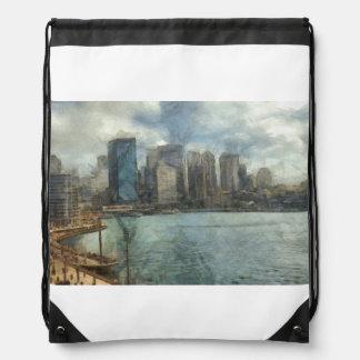 Sydney skyline drawstring backpack