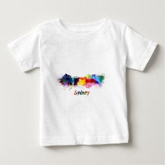 Sydney skyline in watercolor baby T-Shirt