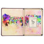 Sydney skyline in watercolor background case for iPad air