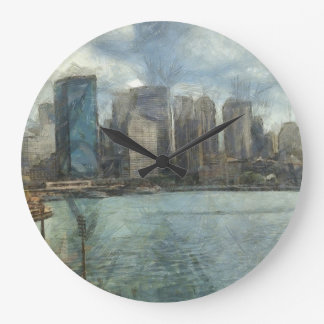 Sydney skyline large clock