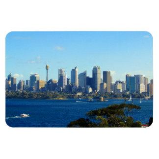 sydney skyline rectangular photo magnet