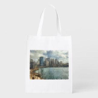 Sydney skyline reusable grocery bag