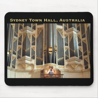 Sydney town hall mousepad