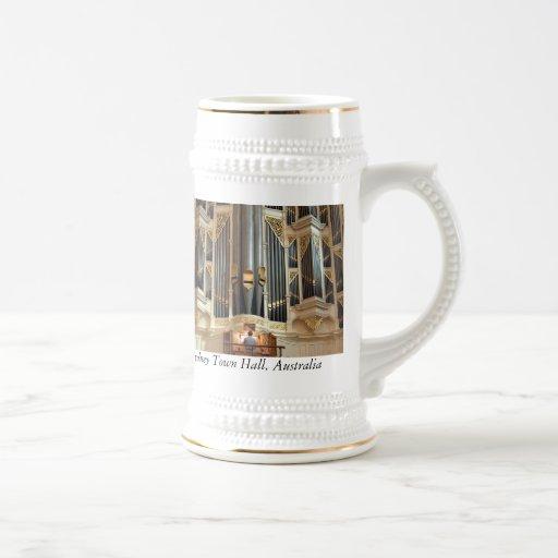 Sydney Town Hall organ stein Coffee Mugs