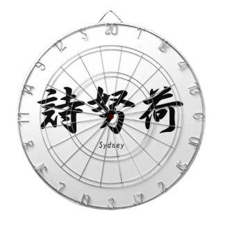 Sydney tradujo a símbolos japoneses del kanji tablero dardos