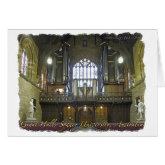 Sydney University pipe organ Card
