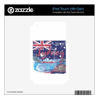 sydney vintage australia iPod touch 4G skins