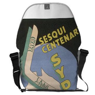Sydney Vintage Travel Poster Courier Bag
