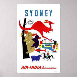 Sydney Vintage Travel Poster Restored