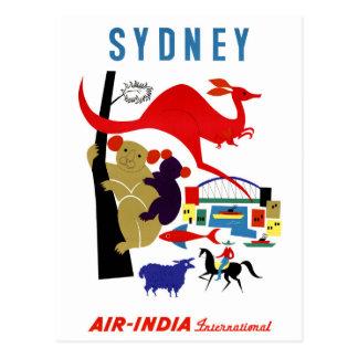 Sydney Vintage Travel Poster Restored Postcard
