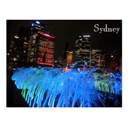 sydney vivid circular quay postcard