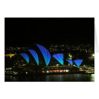 sydney vivid opera blue card
