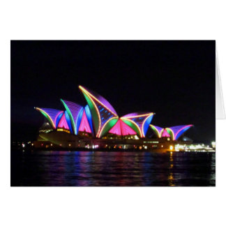 sydney vivid opera house card