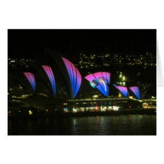 sydney vivid opera lilac card