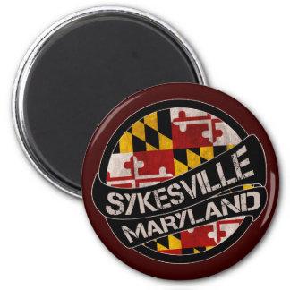 Sykesville Maryland flag grunge magnet