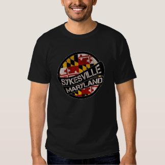 Sykesville Maryland flag grunge scroll T Shirt