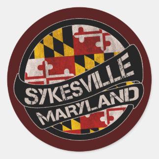 Sykesville Maryland flag grunge stickers