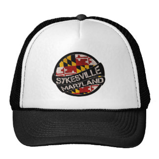Sykesville Maryland flag grunge trucker hat