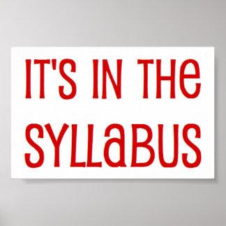 Syllabus Posters