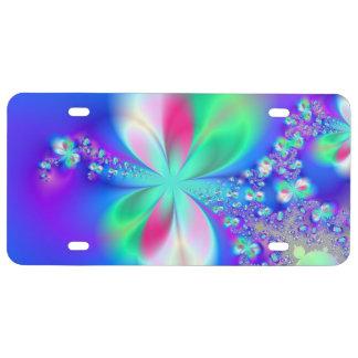 Sylph Dance Fractal Art License Plate