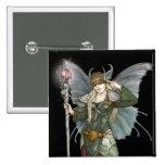 Sylph; Elven master sorceress, by Kathrin Polikeit Pinback Button