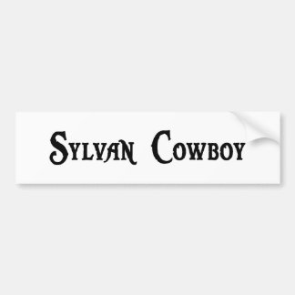 Sylvan Cowboy Bumper Sticker Car Bumper Sticker