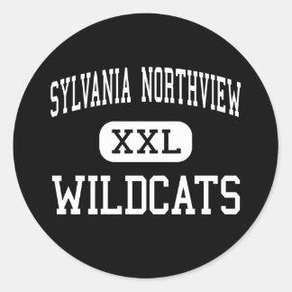 Sylvania Northview - gatos monteses - alto - Pegatina Redonda