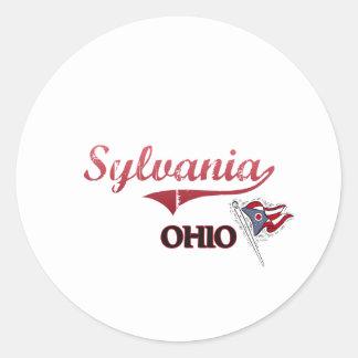 Sylvania Ohio City Classic Round Stickers