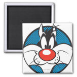 SYLVESTER™ Dotty Icon 2 Inch Square Magnet