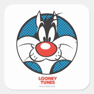 SYLVESTER™ Dotty Icon Square Sticker