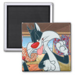 Sylvester Paw Up 2 Inch Square Magnet