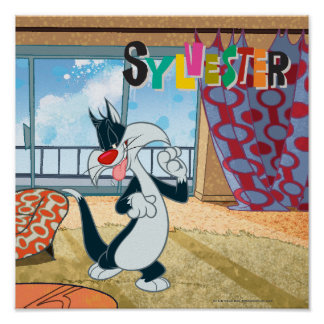 Sylvester Paw Up Print