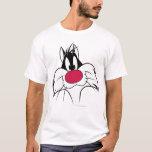 "SYLVESTER™ Red Nose Face T-Shirt<br><div class=""desc"">Sylvester Character Art.</div>"