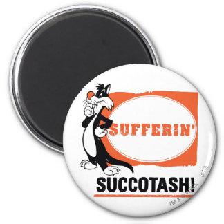 ¡SYLVESTER™ Sufferin Succotash! Imán Redondo 5 Cm