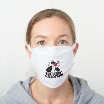 "SYLVESTER™ ""Sufferin' Succotash"" Sulking White Cotton Face Mask"