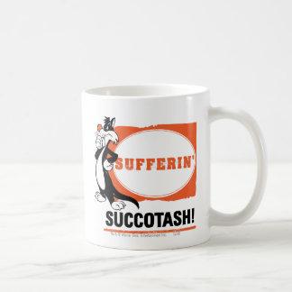¡SYLVESTER™ Sufferin Succotash! Taza Básica Blanca