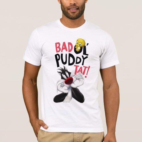 SYLVESTERâ  TWEETYâ_ Mean Ol Puddy Tat T_Shirt