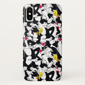 SYLVESTER™ & TWEETY™ Pattern iPhone X Case