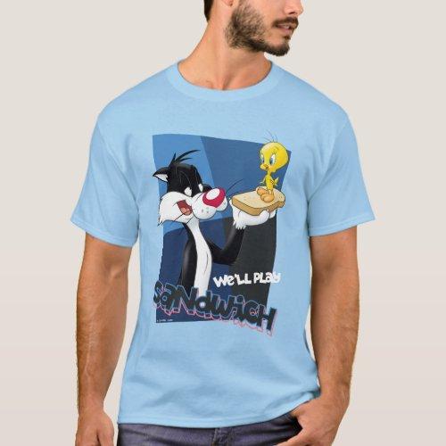 SYLVESTERâ  TWEETYâ Well Play Sandwich T_Shirt