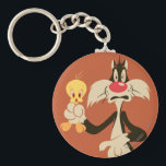 """SYLVESTER™ with TWEETY™ Keychain<br><div class=""""desc"""">Sylvester Character Art.</div>"""