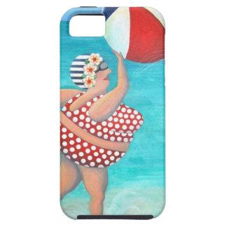 Sylvia at the Beach iPhone 5 Case