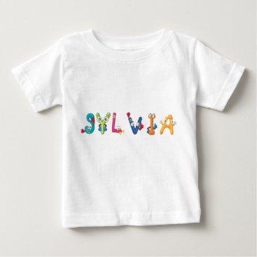 Beach Themed Sylvia Baby T-Shirt