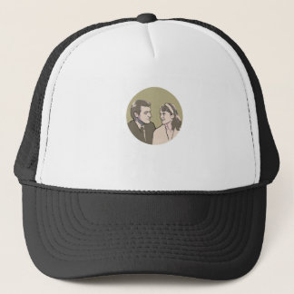 Sylvia Plath and Ted Hughes Trucker Hat