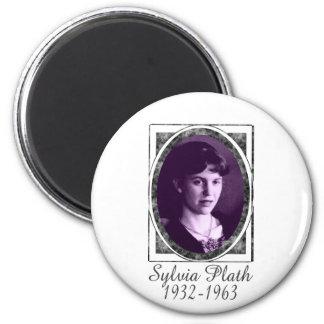Sylvia Plath 2 Inch Round Magnet