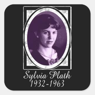Sylvia Plath Pegatina Cuadrada