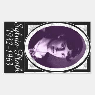 Sylvia Plath Pegatina Rectangular