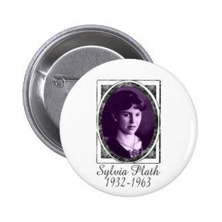 Sylvia Plath Pin Redondo De 2 Pulgadas