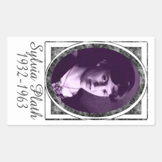 Sylvia Plath Rectangular Sticker