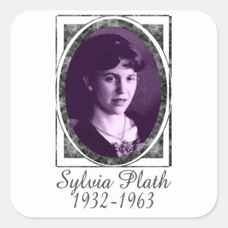 Sylvia Plath Square Sticker